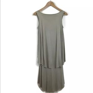 Givenchy Paris Dress Layered Draped Pleated Nude